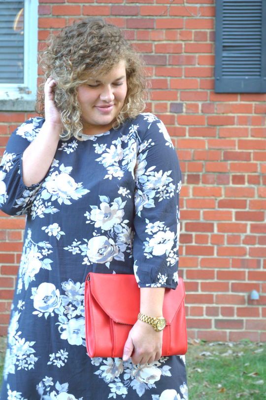 Dress, Old Navy, under $40 | Purse, $20, on consignment | Watch, Michael Kors, Under $100 on consignment