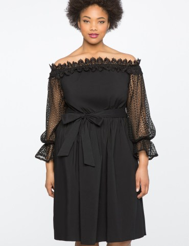 http://www.eloquii.com/studio-off-the-shoulder-dress-with-lace-trim/12441691000014.html
